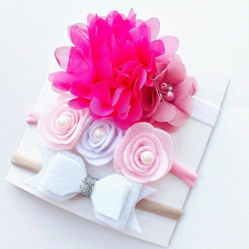 Pink Headband Set