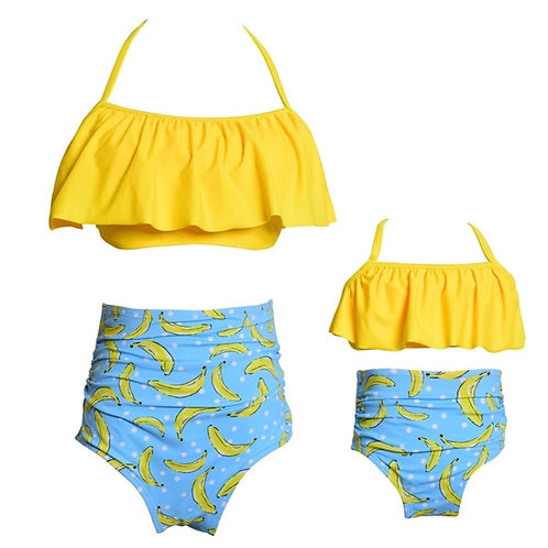 Mommy and Me Banana Swimsuit