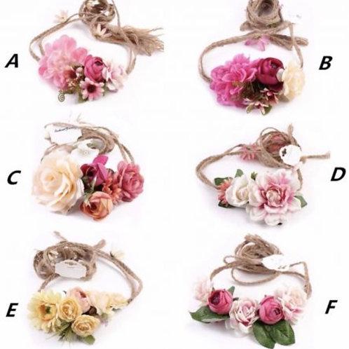Tie Back Floral Crown