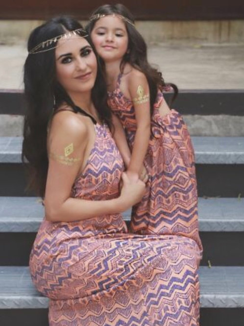Mommy and Me Tribal Maxi Dress