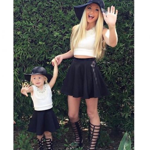 Mommy and Me Black Skater Skirt
