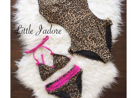 Leopard 2 pcs Swimsuit