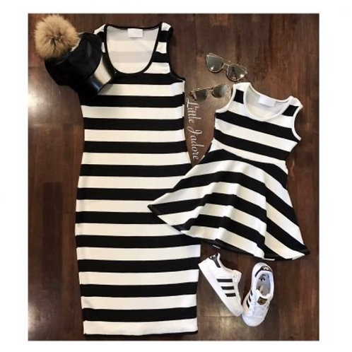Mommy and Me Striped Dress