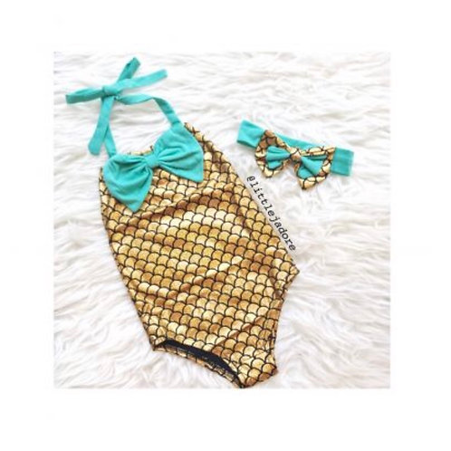 Mermaid 1pc Swimsuit
