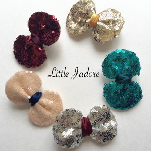 Bow Sequin Bow Set