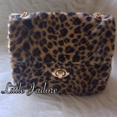 Leopard Fur Mini Bag