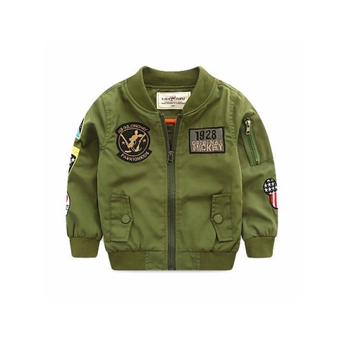 Green Mickey Bomber Jacket