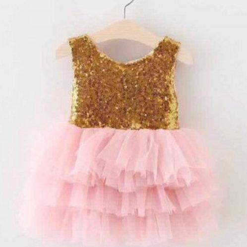 Gigi Gold Pink Dress