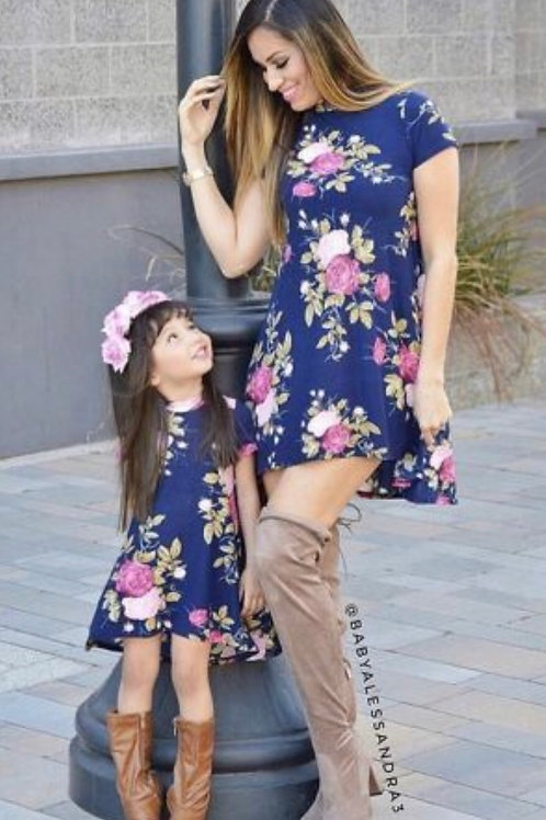 Mommy and Me High Low Floral Dress