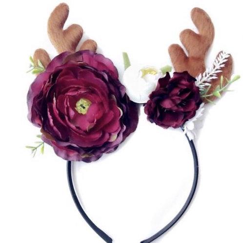 Reindeer Floral Headband