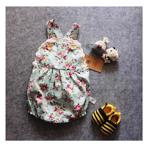 Floral Button Romper