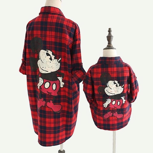 Mommy&me Plaid Mouse Shirt