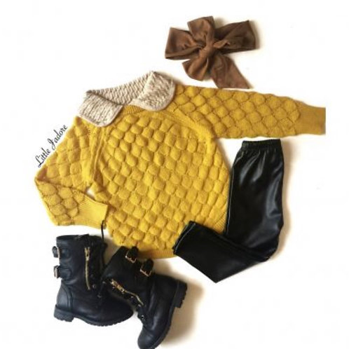 Collar Mustard Sweater