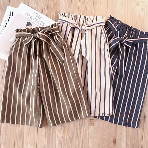 Striped Culottes Pants