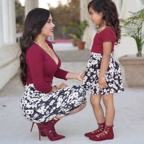 Mommy and Me Poppy Skirt