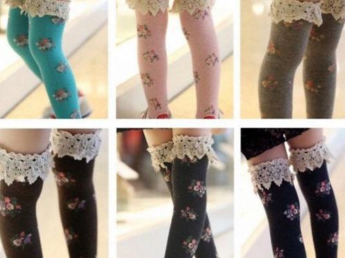 Spring Lace Knee High Socks