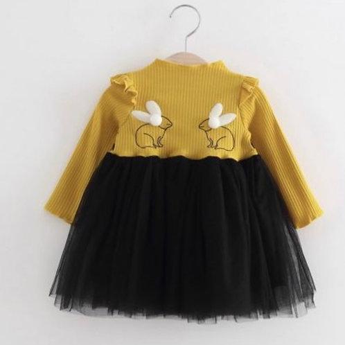 Bunny Mustard Dress