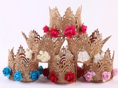 Mini Rose Lace Crown