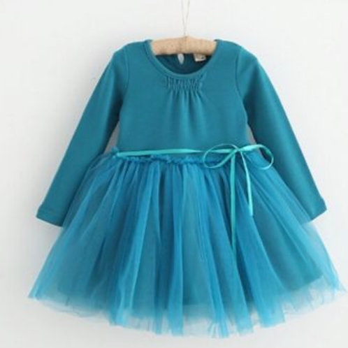 Teal Tulle Dress