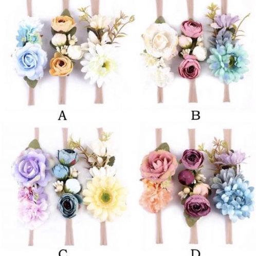 Floral Headband Set