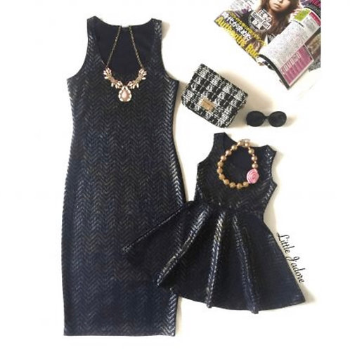 Mommy and Me Blue Sparkle Dress