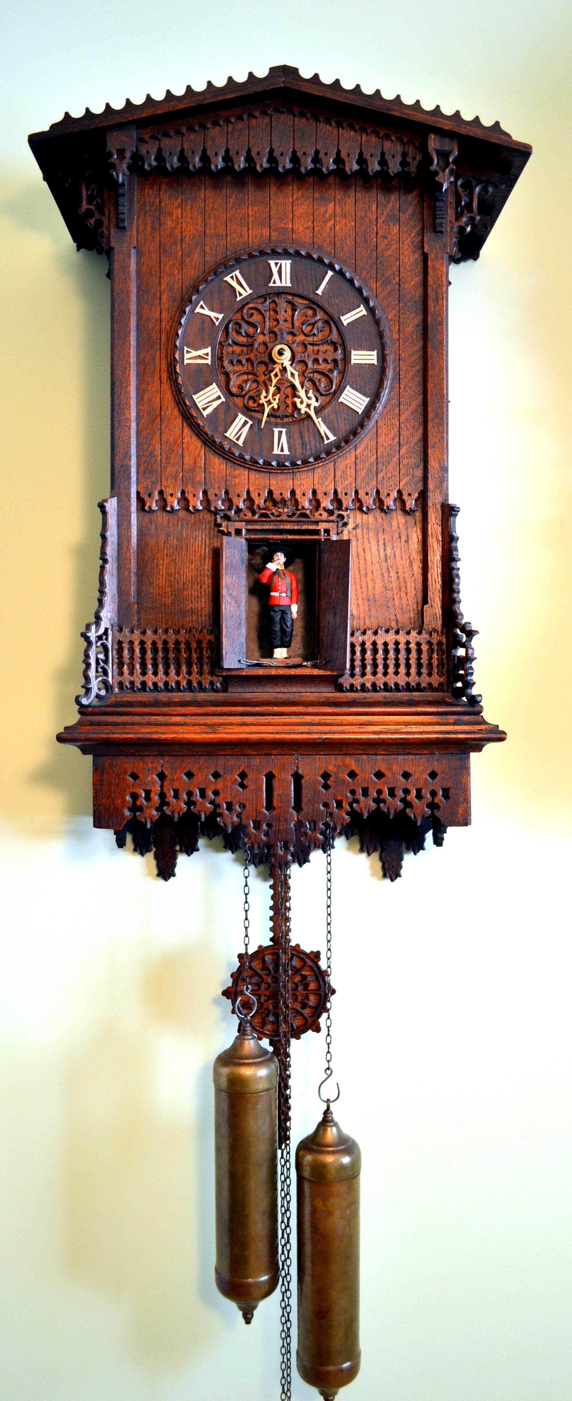 Jacob Bäuerle Trumpeter Clock