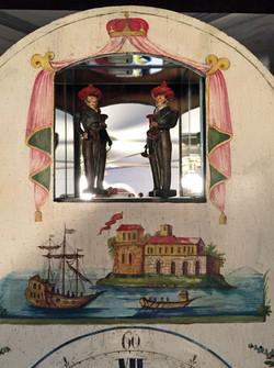 Black Forest organ clock figures