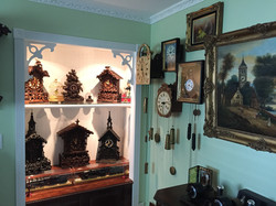 One corner of the clock room