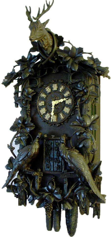 Wehrle Nine Horn Trumpeter Clock