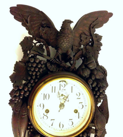 Black Forest clock / great carving