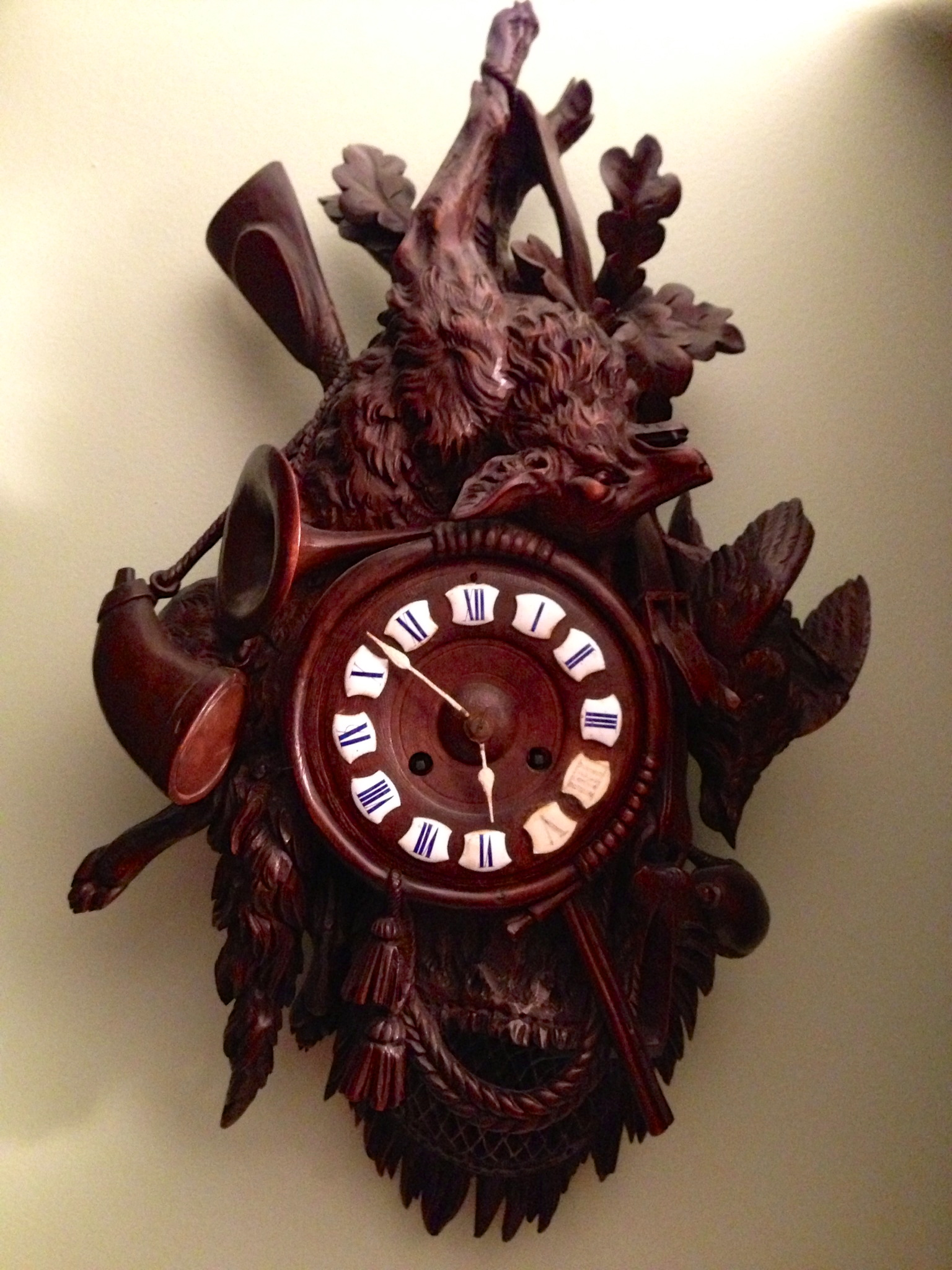 Black Forest Hunter Style Clock