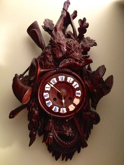 Black Forest Hunter Style Clock