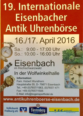 Photos of 2016 Eisenbach Clock Fair also a video of a private clock collection