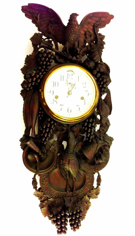 Very heavy carved Black Forest Clock