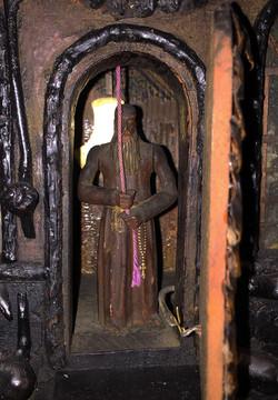 Black Forest clock Monk Figure
