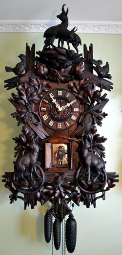 Wehrle Flute Clock with Ibix Motif