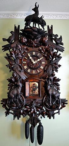 antique black forest clock black forest clocks cuckoo clock trumpeter clock flute
