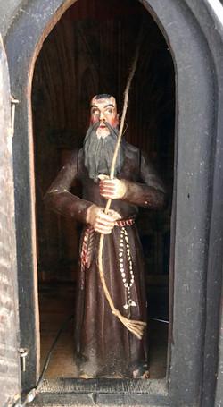 Black Forest Monk Clock Figure