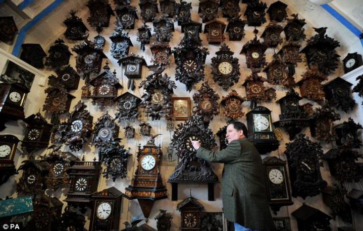 black forest clock, cuckoo clock, black forest, flute clock, trumpeter clock, organ clock