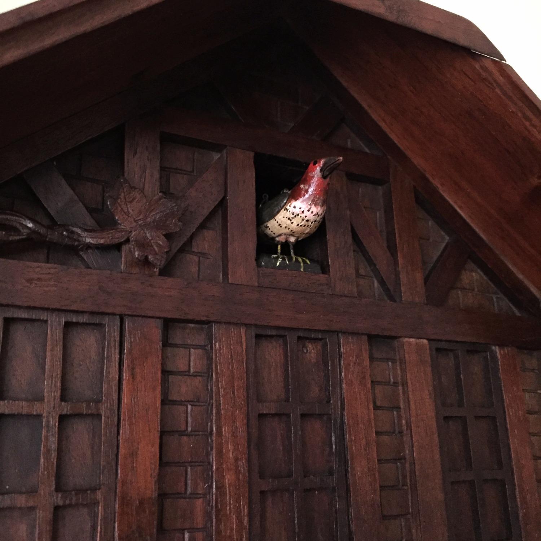GHS Singing Bird Black Forest clock