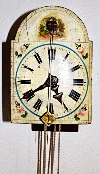 "Newest Acquisition, circa 1700's all wooden gear ""Zappleruhr"" *See the video*"