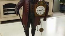 1850's Uhrenträger figurenuhr (clock peddler)