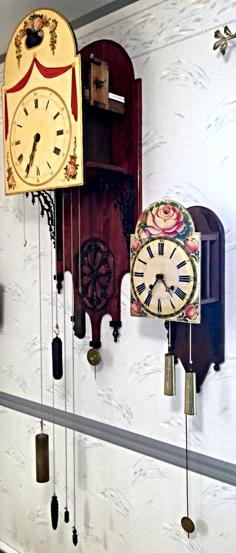Black Forest shield clocks