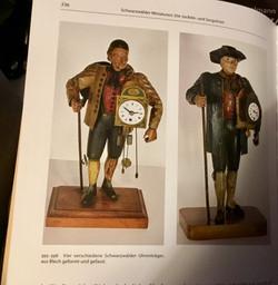 Uhrenträger figurenuhr clock peddler
