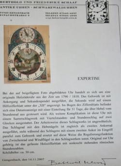 Black Forest Shield Clock. The clock
