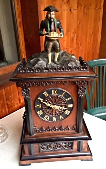 antique black forest clock