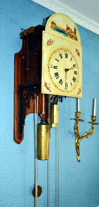 Wonderful Black Forest 15 Pipe Flute Clock circa 1820
