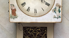 Just aquired a 1790's -1800's Hackbrettuhr (harp) clock