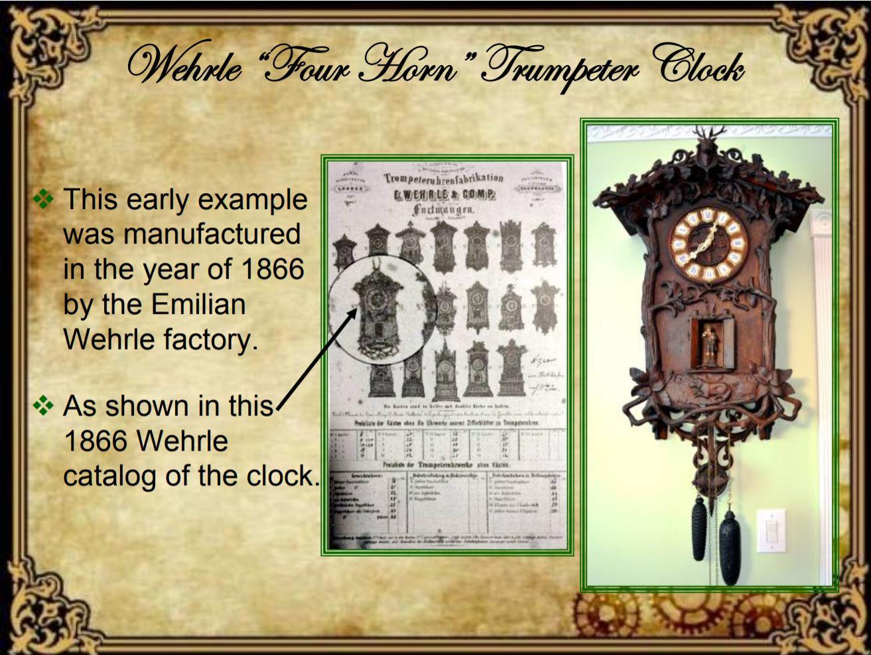 Wehrle Trumpeter clock 1866