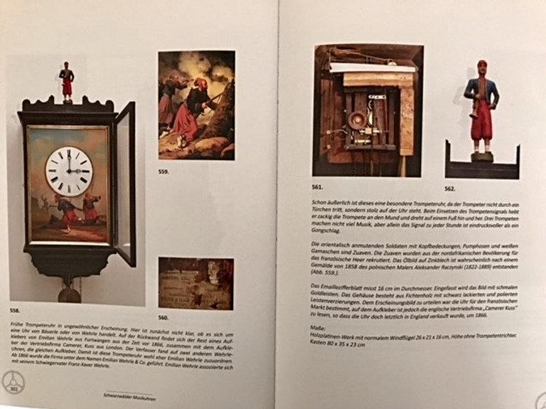 antique black forest clock, Uhrenträger figurenuhr (clock peddler)